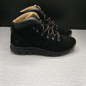 TIMBERLAND WORLD HIKER MID Black Suede BOOTS